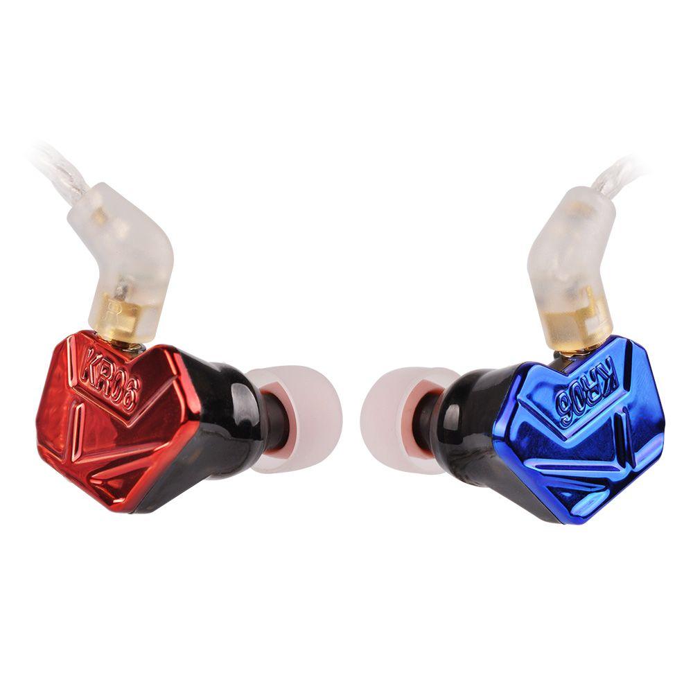 Newest Wooeasy DIY ACZ KR06-6 2BA+1DD Armature &Dynamic Hybrid Headset Earphone HiFi Earplug Earbuds With MMCX Cable