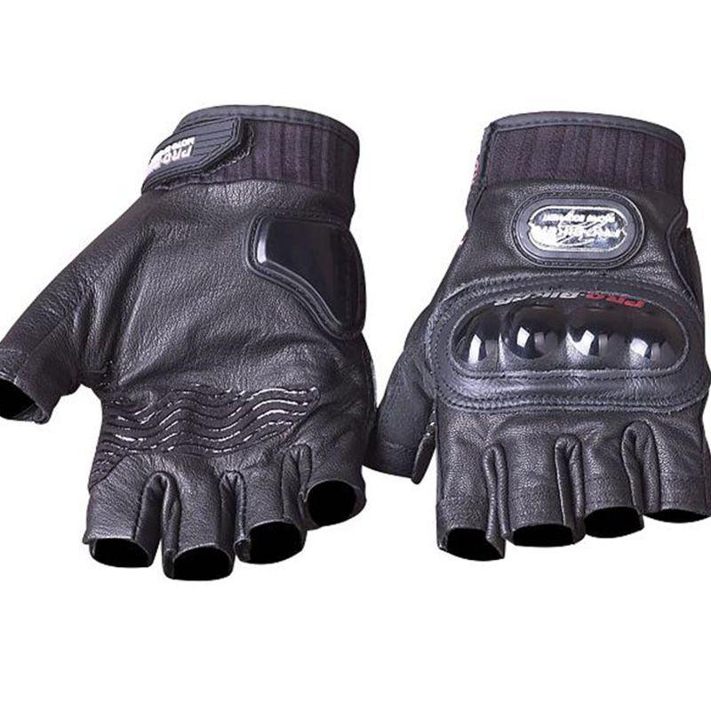 Véritable Cuir Moto Gants D'été moitié doigt PRO-BIKER véritable de chèvre en cuir Motocross Racing Gants équipement de protection