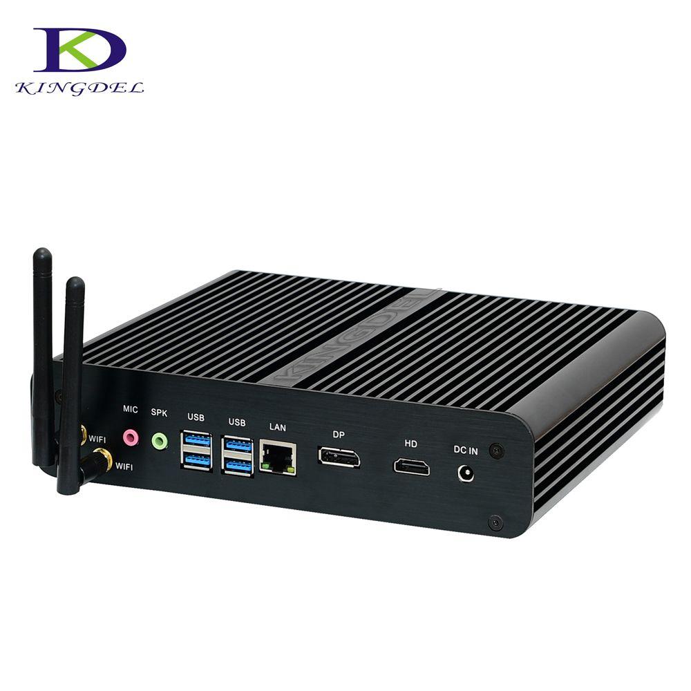 Fanless mini pc mit 8th Gen i7 CPU 8550U bis zu 4,0 ghz windows 10 mini computer DP unterstützt SD HDMI 4 karat gaming nettop htpc