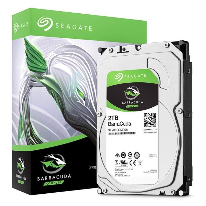 Seagate 2TB Desktop HDD Internal Hard Disk Drive Original 3.5 '' 2 TB 7200RPM SATA 6Gb/s Hard Drive For Computer ST2000DM008