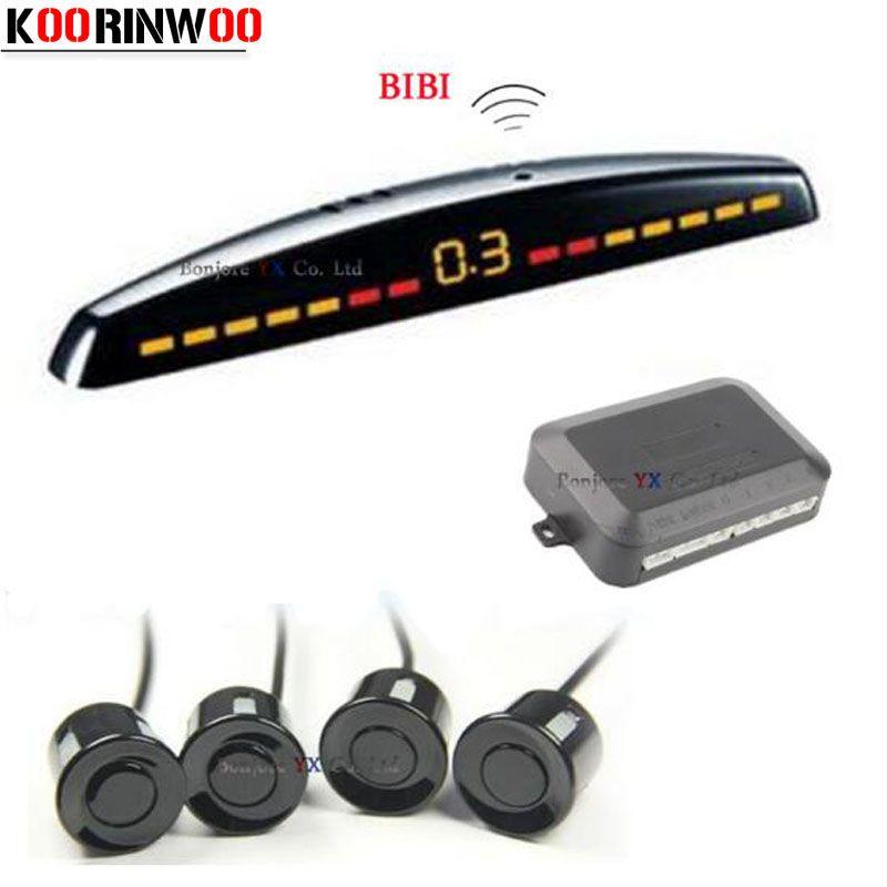 New Arrival LED display Car Parking Sensor Multicolor Set 4 System Sensors For Most Car Reverse Radar Backup Parktronic sensors