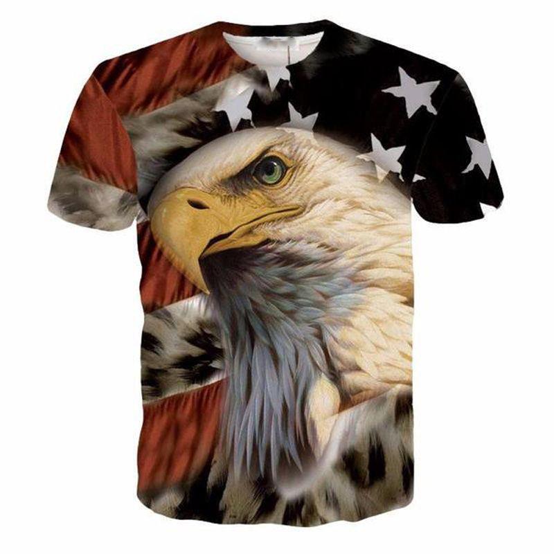 ONSEME Funny Beer Time Letters T Shirts Tee Religion Buddha Print Tshirts Men/Women Cool USA Flag Eagle 3D T Shirt Tees Dropship
