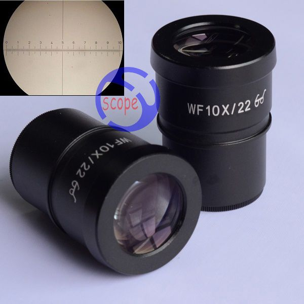 FYSCOPE WF10X/22 Super Widefield 10X Microscope Eyepiece with cross reticle 30mm
