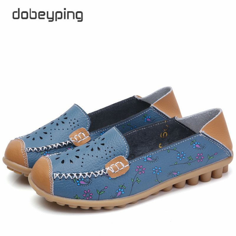 2017 New Women Casual Shoes Soft Real Leather Femal Flats Breathable Woman Loafers <font><b>Leisure</b></font> Boat Shoe Mocassins Driving Footwear
