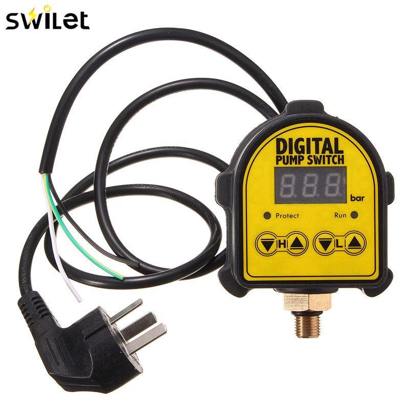SWILET Hot Sale Automatic Digital Air Pump Water Oil Compressor Pressure Controller Switch Water Pump Digital Switch