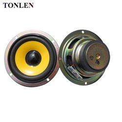TONLEN 2PCS 3 inch Full Range Speaker 4ohm 5W Mini Stereo Speakers Round DIY Portable Audio Speakers for Bluetooth Speaker