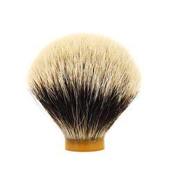 ZY Murni Terbaik Silvertip Badger Kuas Cukur Rambut Simpul untuk Pria Barber Mencukur Janggut Sabun Diy Kuas