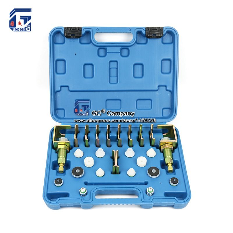 Universal A/C Leak Testing Detector Tool / Flush Fitting Adapter Kit ( Fit for 98% Vehicles ) for A/C System Repair Tool