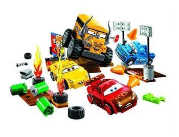 Лидер продаж автомобили 3 молнии Юниоры Smokey гараж строительные блоки Развивающие игрушки для детей Совместимость с Lego best подарки