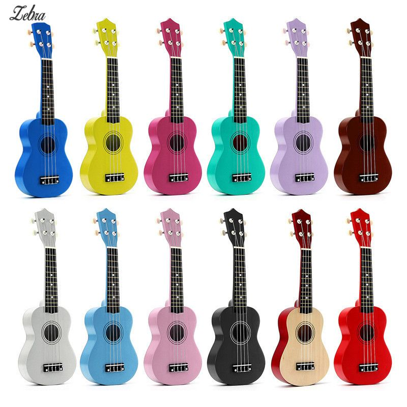 12 Colors 21 Soprano Ukulele Basswood Nylon 4 Strings Guitarra Acoustic Bass Guitar Musical Stringed <font><b>Instrument</b></font> for Beginners