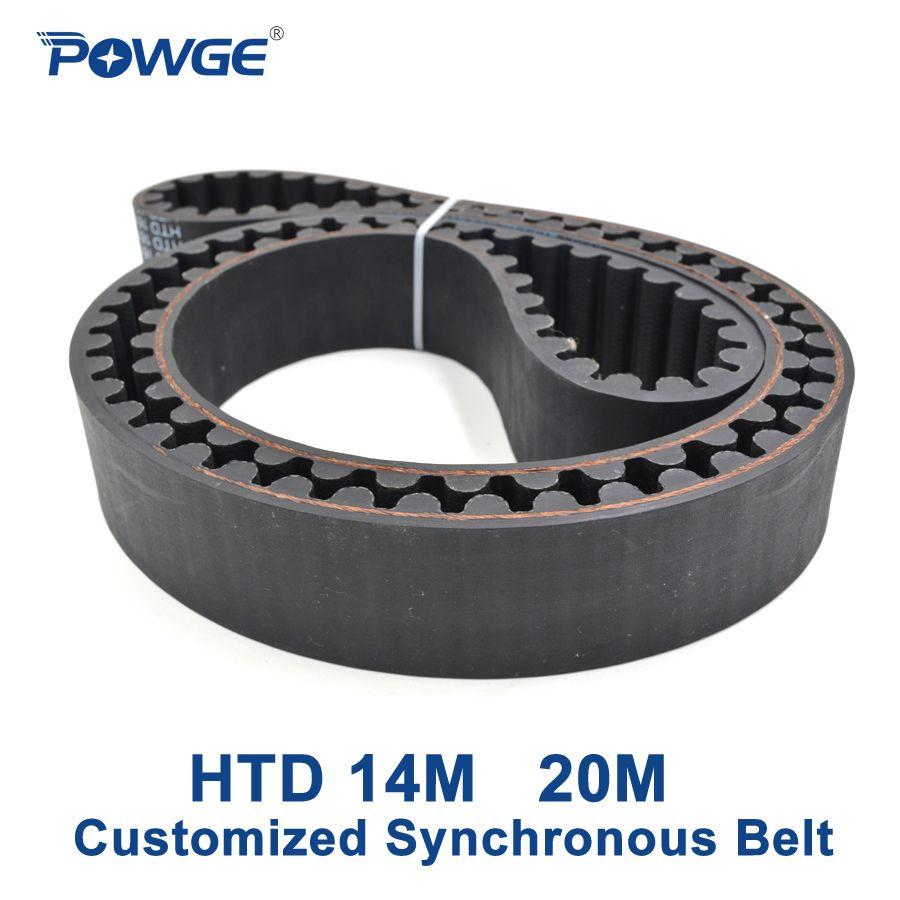 Powge arc zähne htd 14 mt 20 mt zahnriemen pitch 14mm 20mm Kundenindividuelle produktion alle arten von HTD14M HTD20M Zahnriemen riemenscheibe