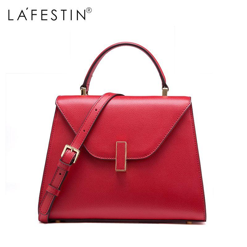 LAFESTIN Brand Women Handbag Versatile Leather Shoulder Bag Luxury Designer Multifunction Brands Crossbody Bag Bolsa