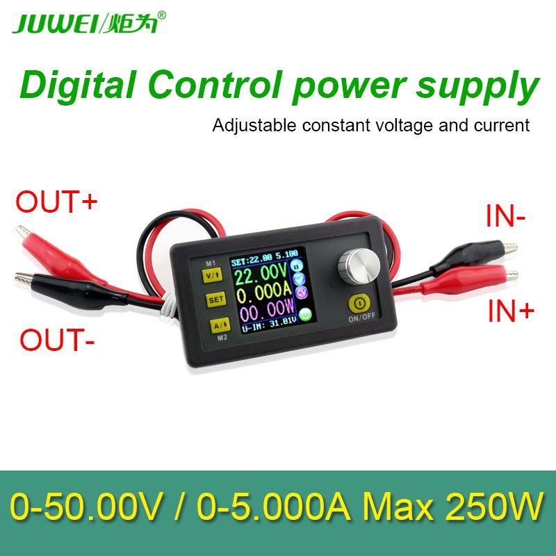 50 V 5A 250 W LCD convertisseur Réglable Tension mètre Régulateur Programmable Alimentation Module Voltmètre Ampèremètre testeur de Courant