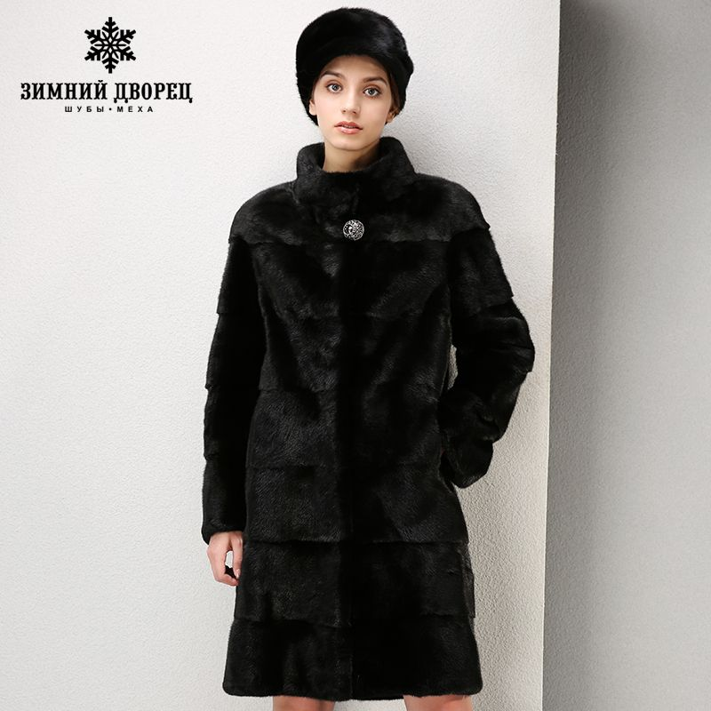 High-grade dress fashion mink fur coat Short imported coats Genuine Leather fur coats for women Mandarin Colla fur coat