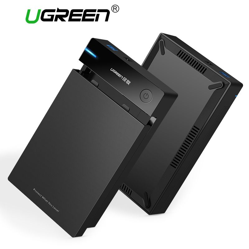Ugreen 3.5 <font><b>inch</b></font> HDD Case SSD Adapter SATA to USB 3.0 for Samsung Hard Disk Drive Box 1TB 2TB 2.5 External Storage HDD Enclosure