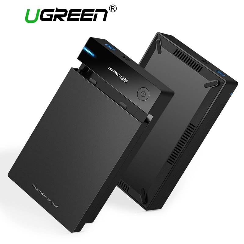 Ugreen 3.5 inch HDD Case SSD Adapter SATA to USB 3.0 for Samsung Hard Disk Drive Box 1TB 2TB 2.5 External Storage HDD Enclosure