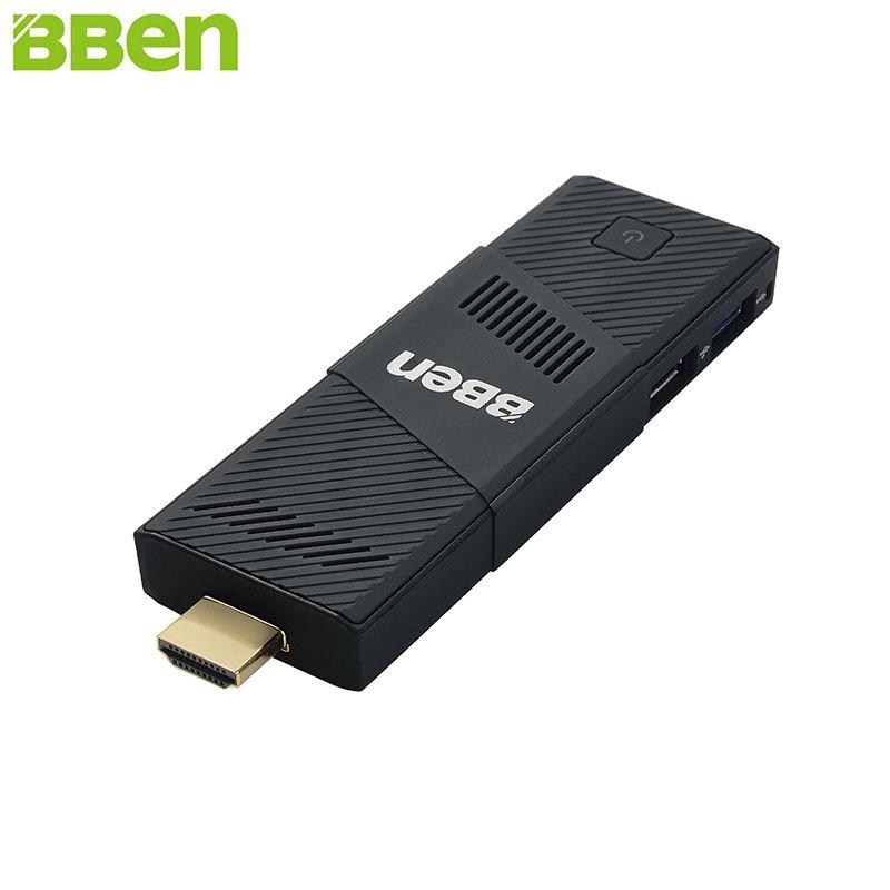 BBen MN9 Mini PC Stick Windows 10 Ubuntu Intel X5 Z8350 Quad Core 2G 4GB RAM Mute Fan WiFi Smart TV Stick PC Mini Computer Micro
