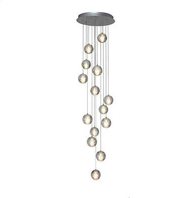 14 Köpfe Kristall Ball Design Moderne LED Anhänger Leuchten Esszimmer Hanglamp Innenbeleuchtung Lamparas Colgantes Pendente