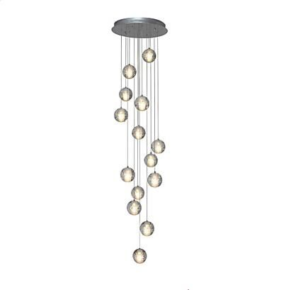 14 Heads Crystal Ball Design Modern LED Pendant Light Fixtures Dinning Room Hanglamp Indoor Lighting Lamparas Colgantes Pendente