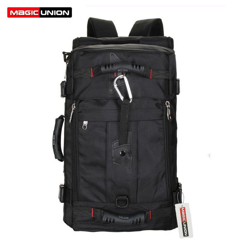 Magic Union hombres Bolsas de viaje moda hombres mochilas multiusos de los hombres viaje mochila multifunción bolso de hombro