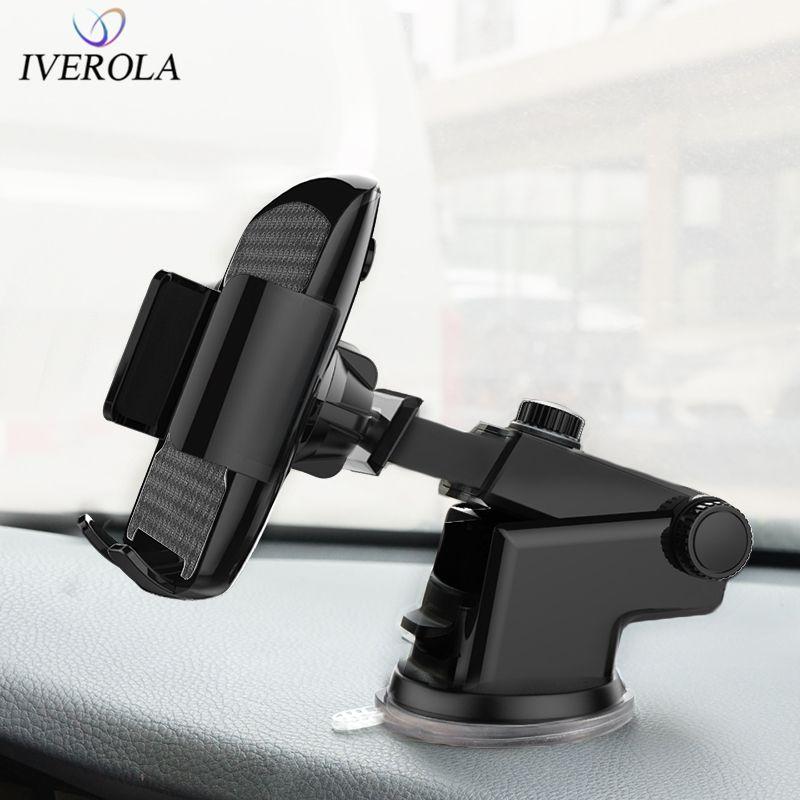 Univerola Support de voiture Support pour téléphone pour téléphone dans la voiture pour Samsung S9 voiture ventouse Support de montage pour iPhone X 7 Support de Support de téléphone