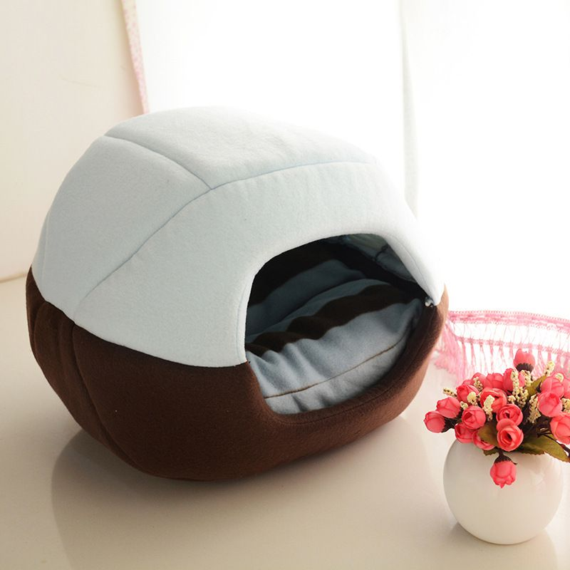 2 Uses <font><b>Foldable</b></font> Soft Warm Cat Dog Bed House Pet Cave Puppy Sleeping Mat Pad Nest Pet Beds Dog Blanket Animal Sleep Cat Bed House