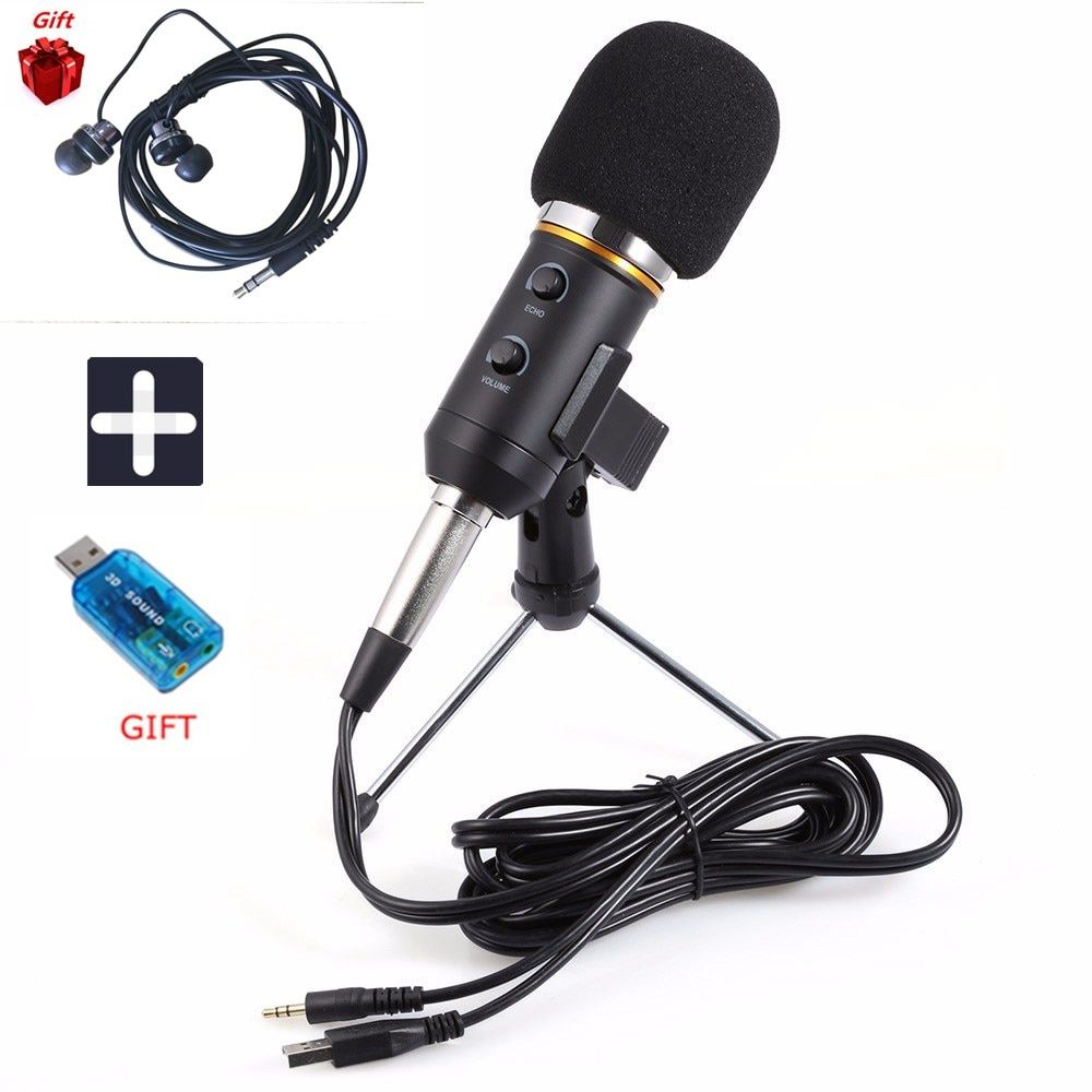 New MK-F200TL Microphone Adjustable Sound Volume Noise Reduction Condenser KTV Audio Studio Recording Mic Update MK-F100TL
