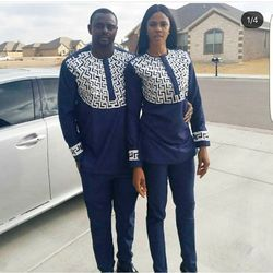 Sudáfrica 2018 nueva pareja Africana África africana para Hombre Ropa para hombres y mujeres bazin riche Dashiki parejas vestido