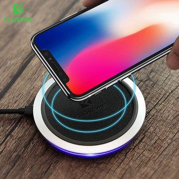 [Ци Беспроводной Зарядное устройство 10 Вт], floveme Беспроводной Зарядное устройство LED зарядного устройства для Samsung Galaxy S8 S7 S8 плюс note 8 для IPhone X ...