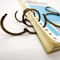 Kualitas tinggi tirai cincin, Buku Binder menggantung foto cincin mengikat cincin logam mesin pengikat klip pengikat