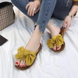 Venta caliente del verano mujeres Flip Flops moda Color sólido Sandalias de tacón plano tamaño 36-40 zapatilla al aire libre playa zapatos para mujer