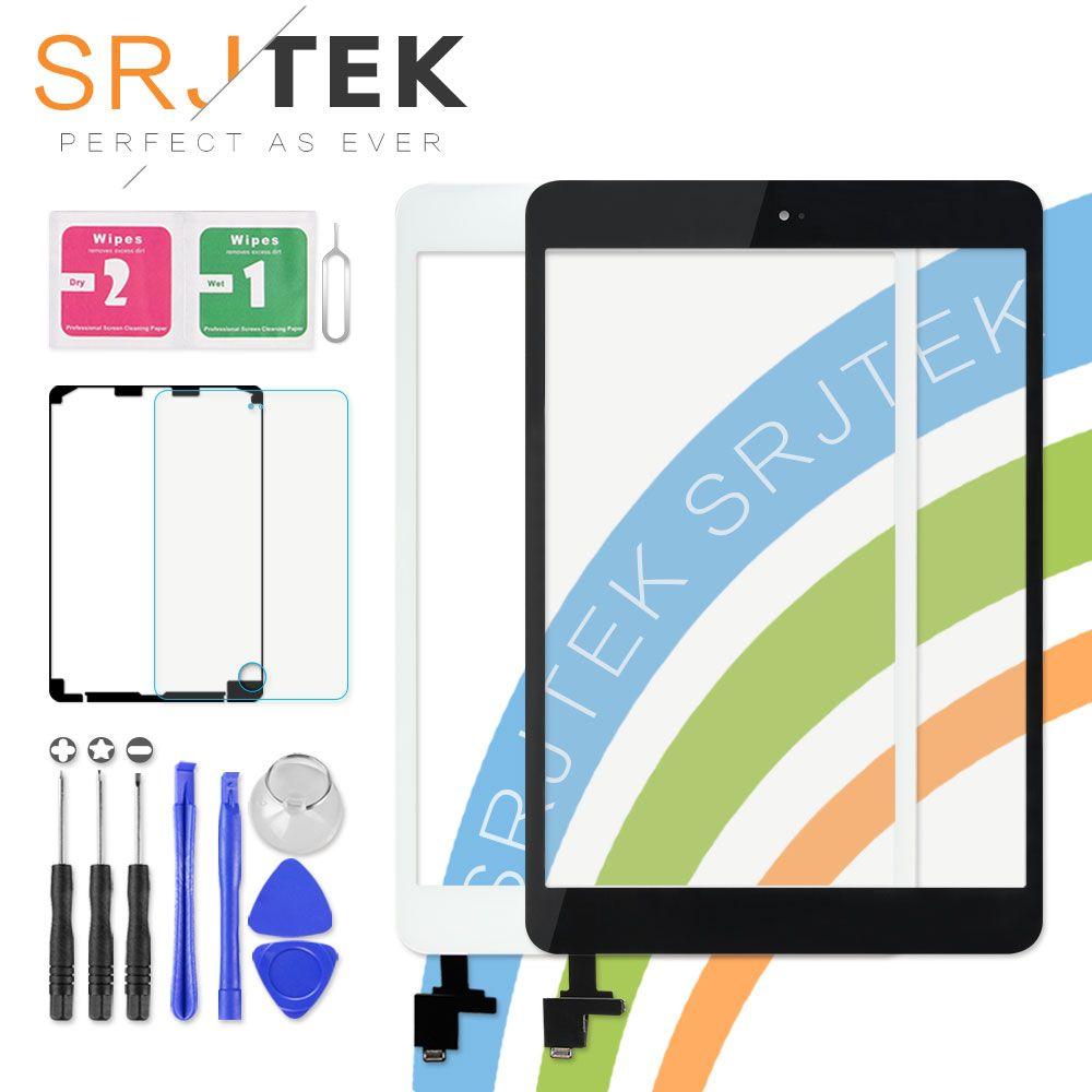 SRJTEK Touch Screen For iPad Mini 1 Mini 2 mini1 A1432 A1454 A1455 mini2 A1489 A1490 A149 Digitizer Sensor IC Cable Home Button