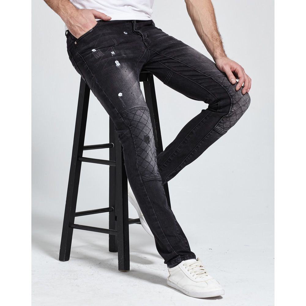 Новинка 2017 года Для мужчин Джинсы для женщин Мода Strech Байкер Джинсы для женщин Дизайн хорошее качество Джинсы для женщин H1701
