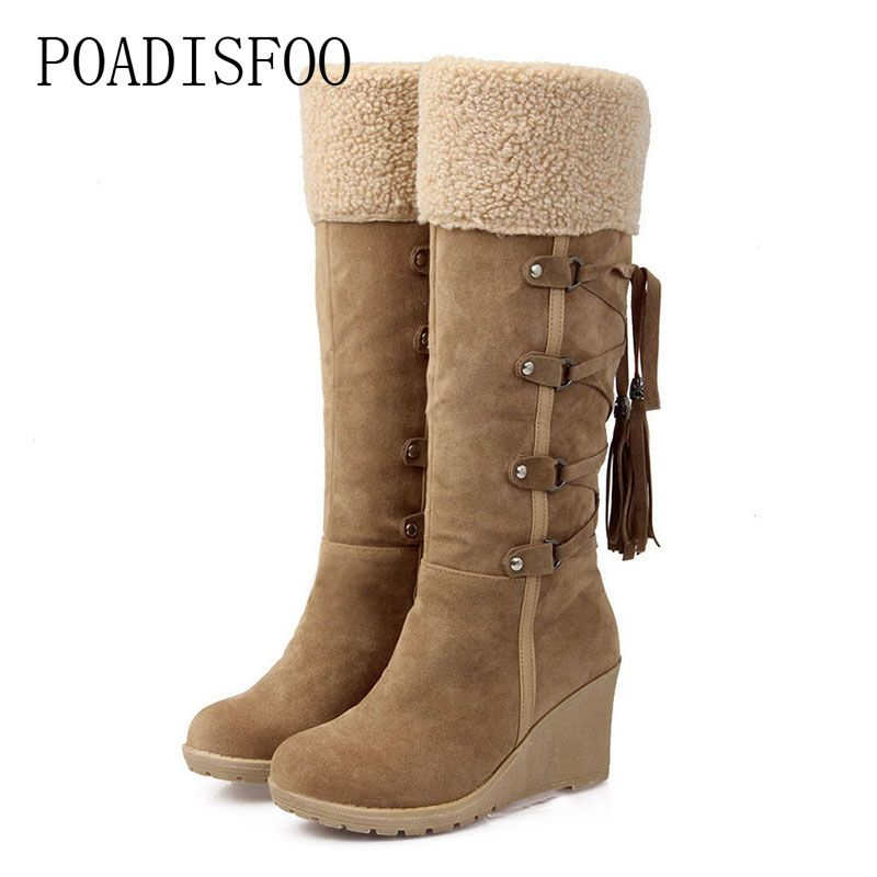 POADISFOO Snow Boots Foreign Trade Manufacturers On Behalf Of The Slope With Snow Boots High Boots Spot .XJ-hyl728
