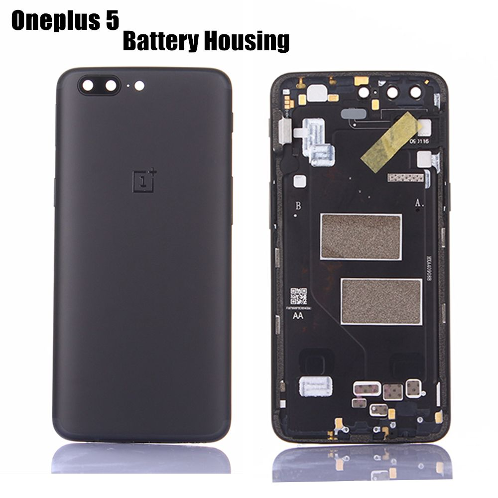Oneplus 5 Official Original Metal Cover Case for Oneplus5 1+5 Back Battery Cover Housing Replacement Parts Black Color