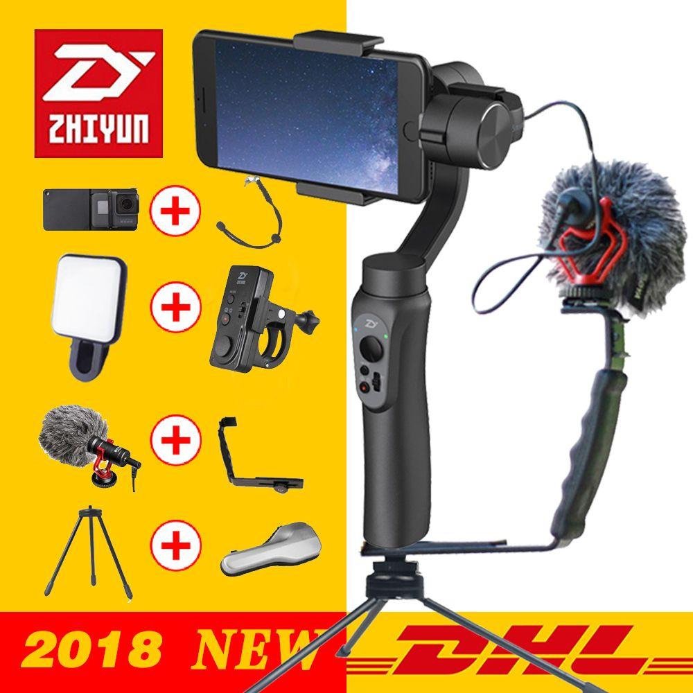 Zhiyun LISSE Q 3-Axis Cardan Stabilisateur De Poche pour Smartphone d'action caméra téléphone Portable iPhone X Gopro Hero sjcam cam