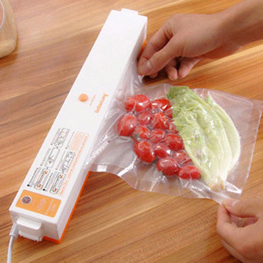 100W 220V Household Food Vacuum Sealer Packaging Machine Film Sealer Automatic Electric Vacuum Packer for All Size Vacuum Bag