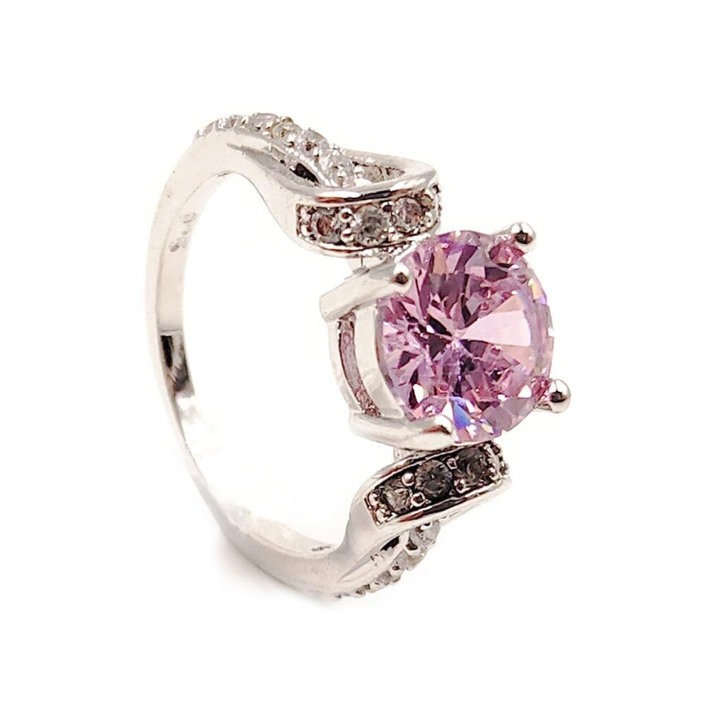 Sue Phil New 2018 Women Rings Fashion Round Crystal Rings female wedding rings drop shipping
