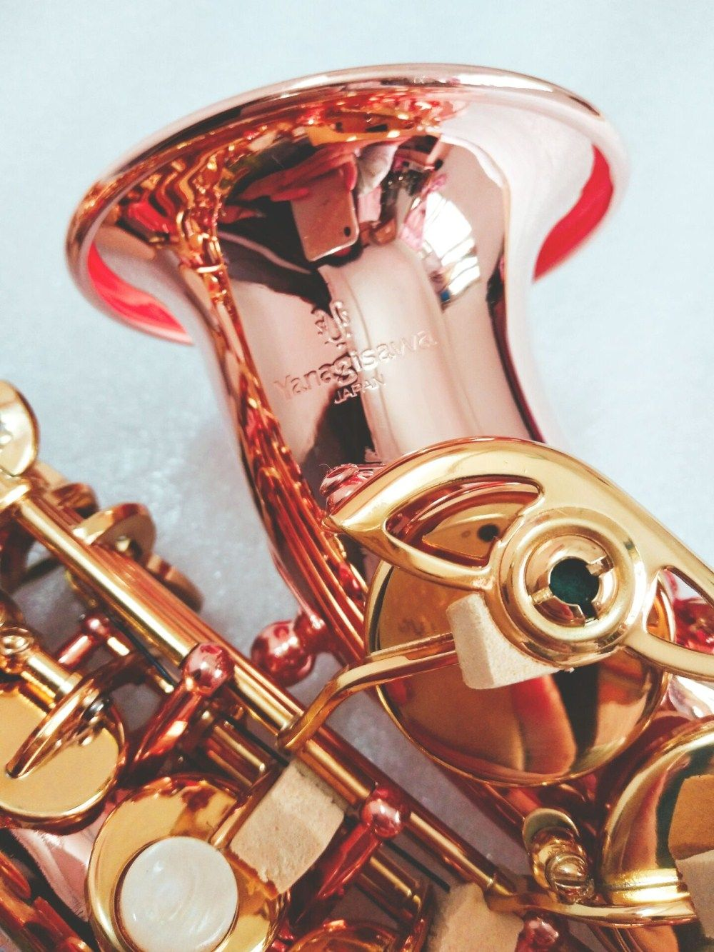 New Yanagisawa Soprano Saxophone Bb Phosphorus Bronze copper Sax SC-992 Yanagisawa Musical Instrument Promotions Free shipping