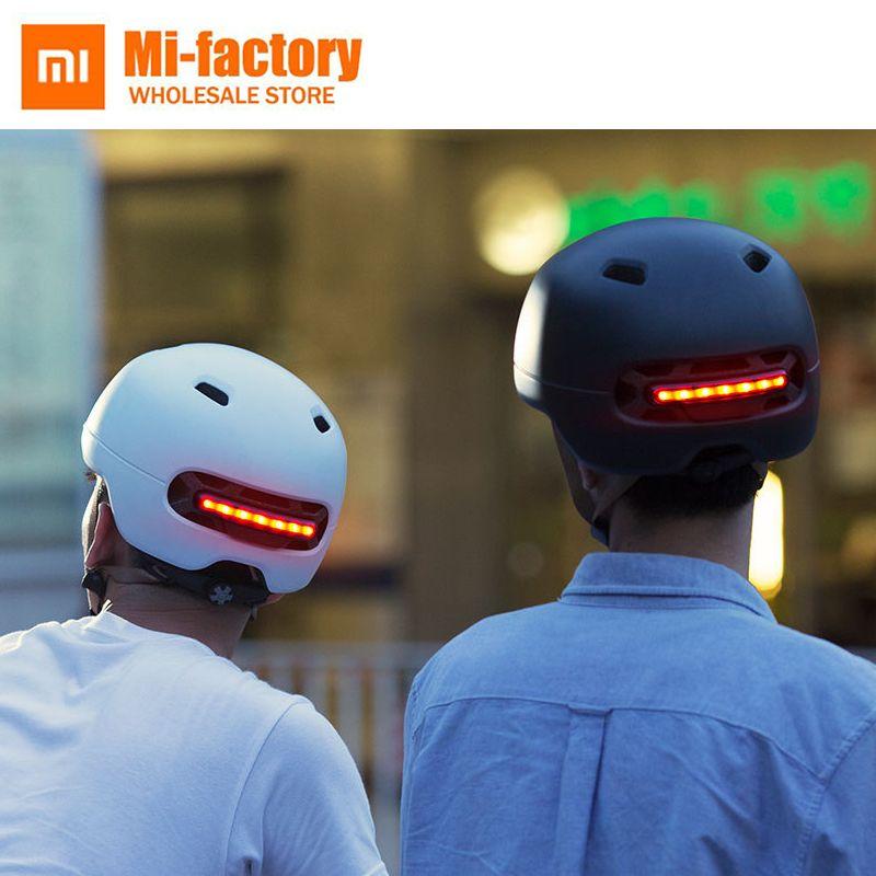 New Xiaomi Smart4u Waterproof Bicycle Smart Flash Helmets Matte Long Use Helmet Back Light Mountain Road Scooter For Men Women