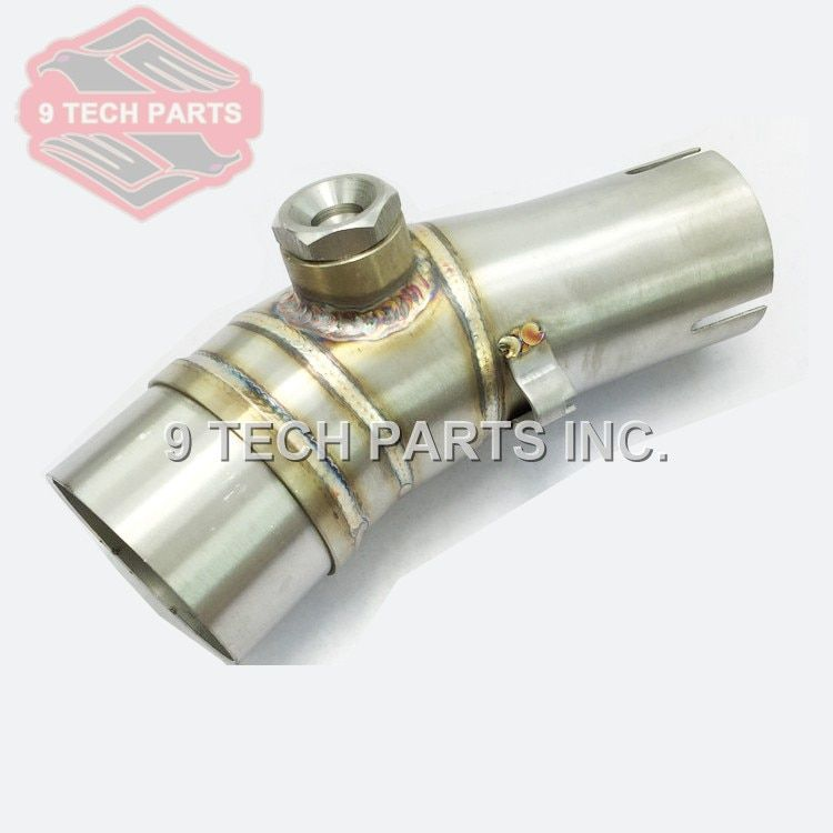 Motorcycle Exhaust middle pipe stainless steel Muffler link pipe middle section adapter pipe for Kawasaki ER6N