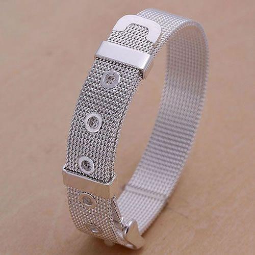 H006 925 livraison gratuite argent bracelet, 925 livraison gratuite argent bijoux de mode Web Bracelet Bracelet/atxajlea aqlajhsa