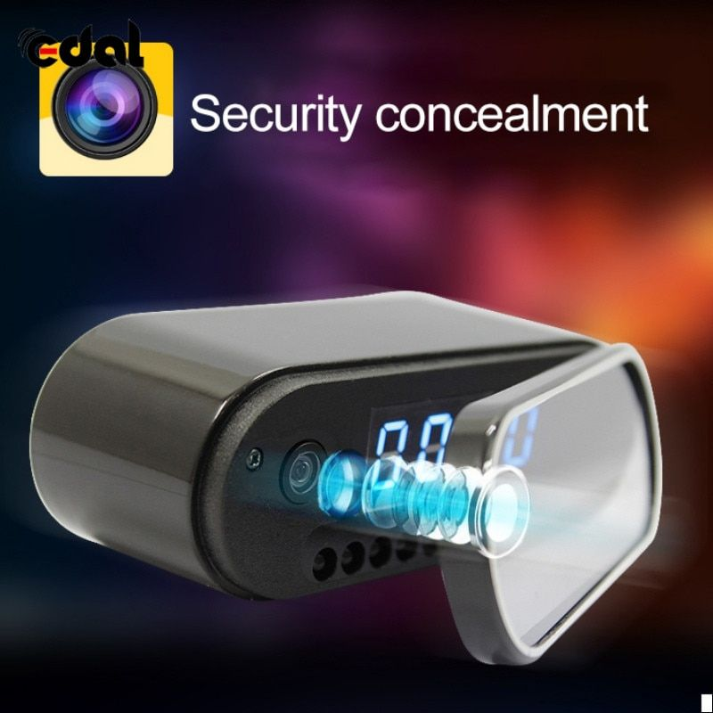 EDAL Mini Camera Clock Alarm P2P Livecam IR Night Vision Wifi Cam IP 720 Mini DV DVR Camcorder Wifi Remote Control