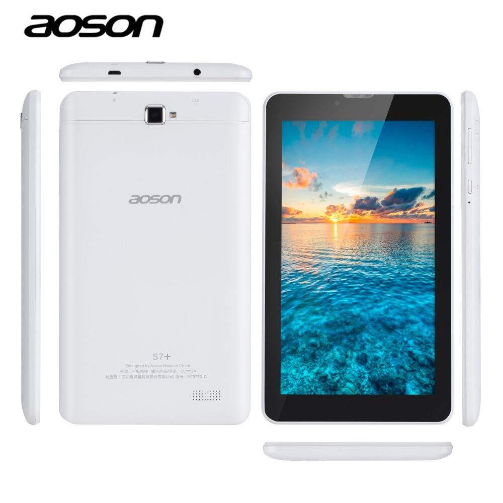 AOSON S7+ 7 inch 3G Unlocked Smart phone Tablet PC Android 7.0 MTK8321 16GB Quad Core IPS <font><b>1024</b></font>*600 1G+16G GPS Bluetooth SIM CARD