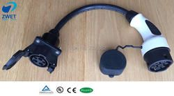 ZWET j1772 connector ev car charger Type 1 to Type2 adapter Electric Vehicle Charging Adapte/Cable length is 1 m original
