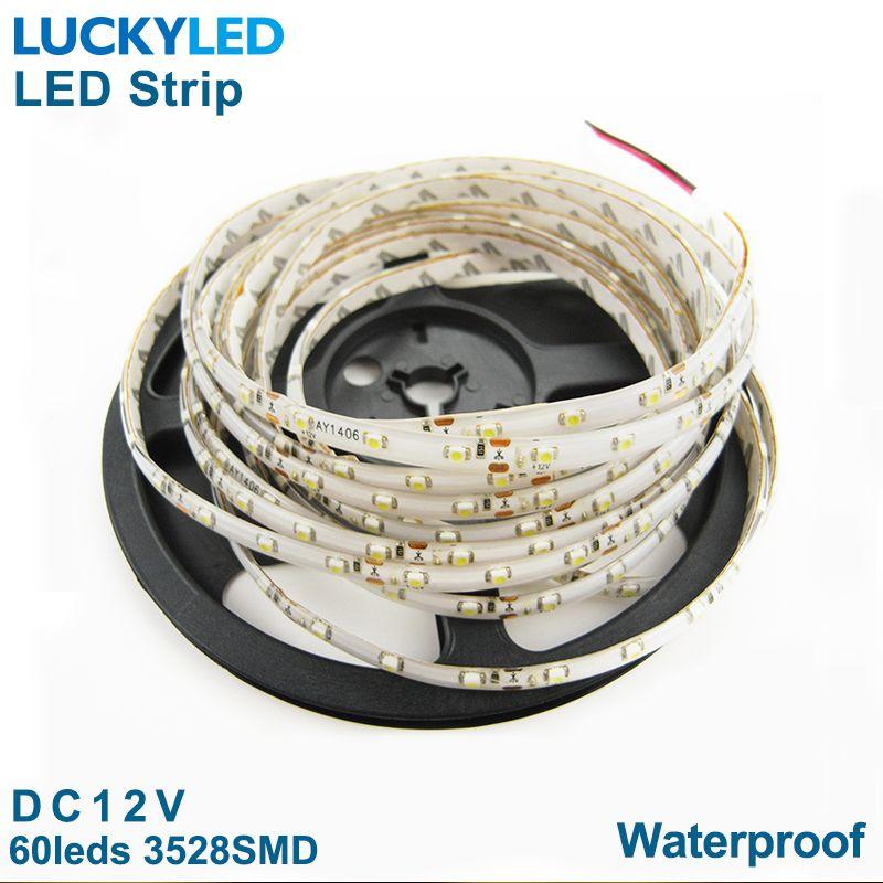waterproof 12v flexible light 300 leds SMD white warm white yellow blue green red 5m led strip 3528