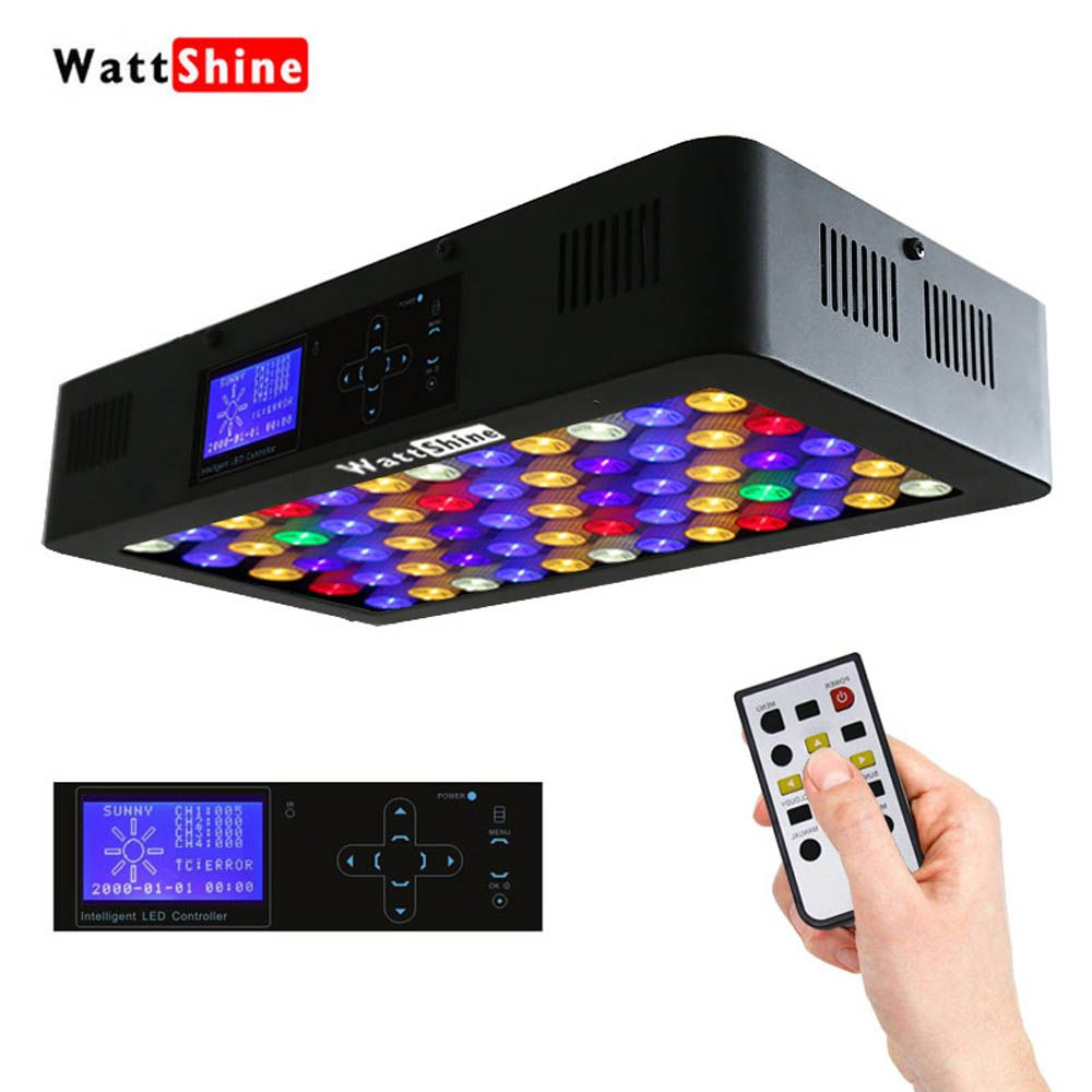Timer Control Dimmer 180W LED Aquarium Light Remote or Touch control dimmable Freshwater or Saltwater pool Coral Hall Fish Tank