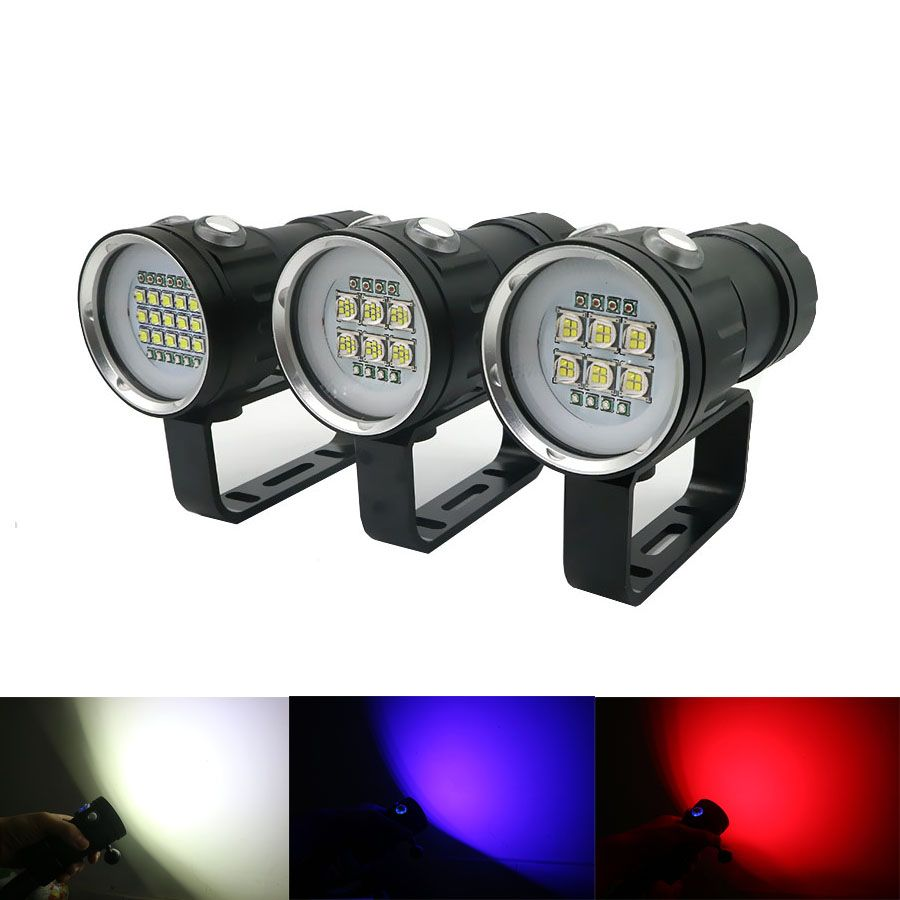 NEW LED Diving Flashlight Underwater 100m Waterproof Photography Video Tactical Linterna XHP70 / XHP90 Camera Video LED Torch