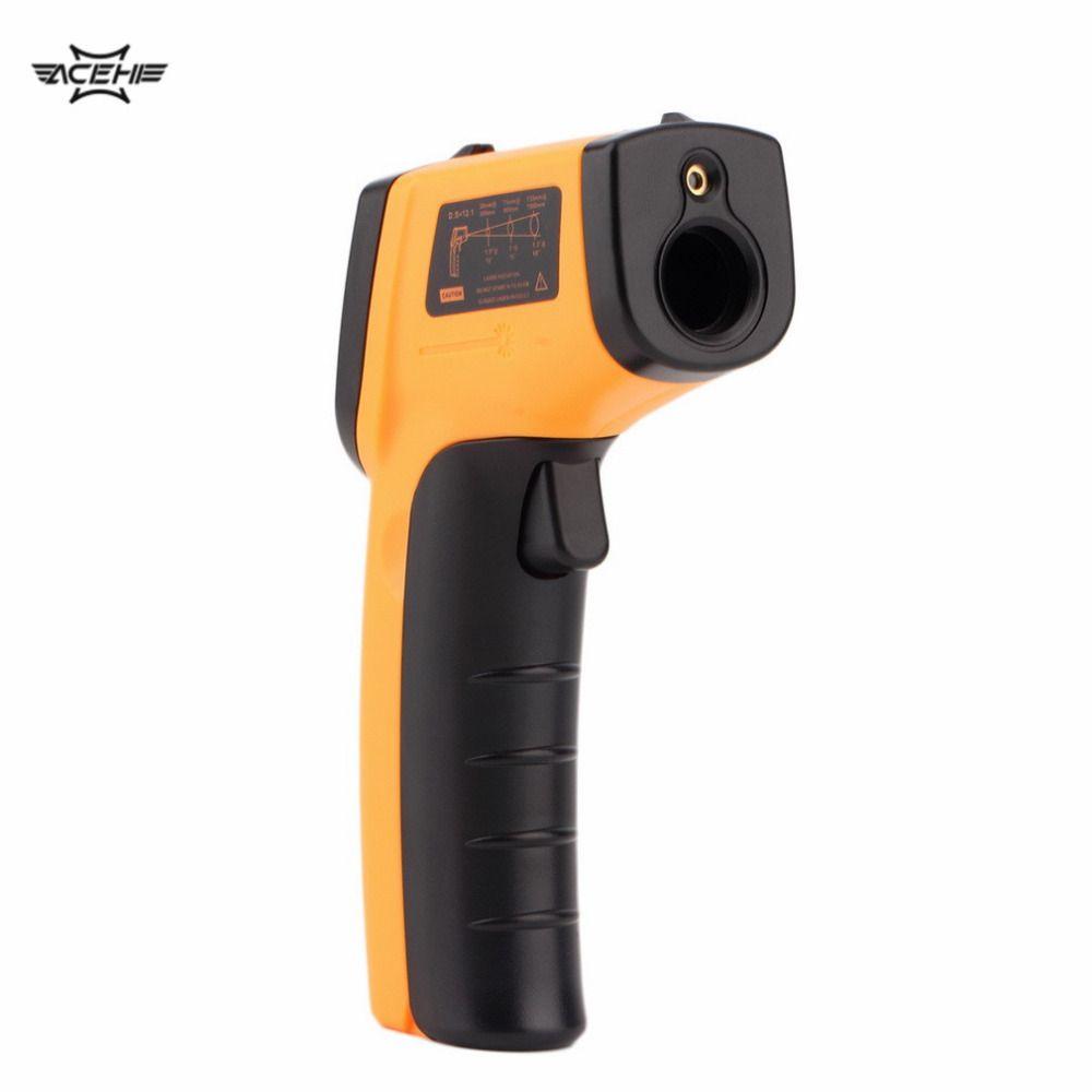 2017 GM320 Laser LCD Numérique IR Infrarouge Thermomètre Température Compteur Gun Point-50 ~ 330 Degrés Sans Contact thermomètre