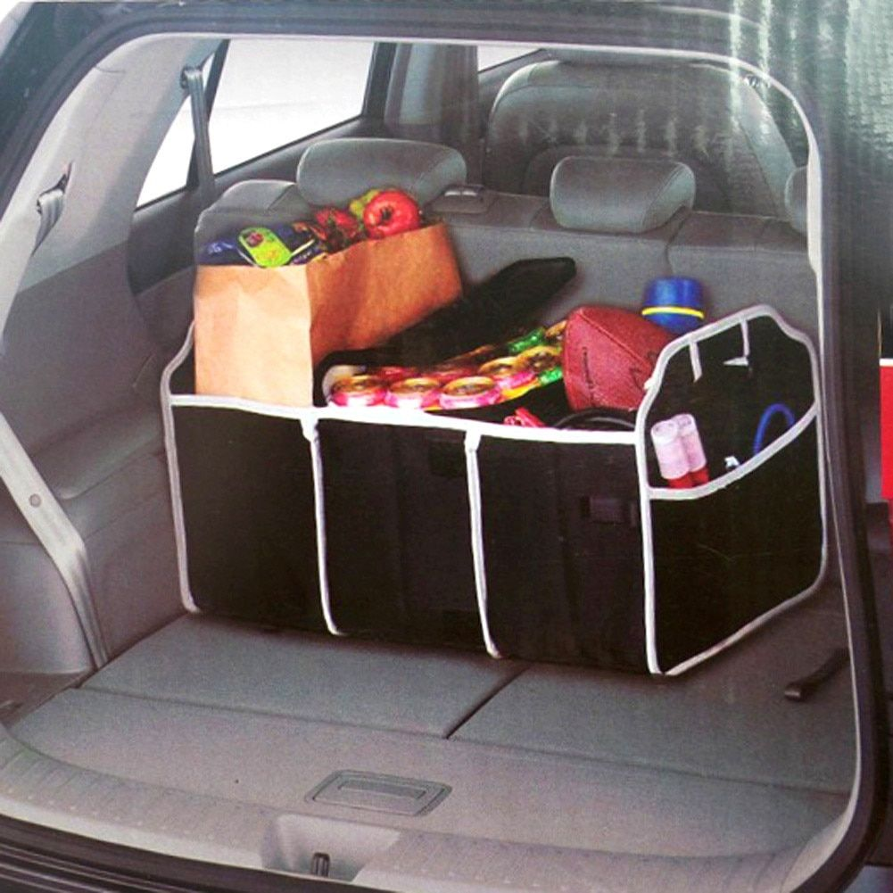 Auto Accessories Car Organizer Trunk Collapsible Toys Food Storage Truck Cargo Container Bags Box Black Car Stowing Tidying New